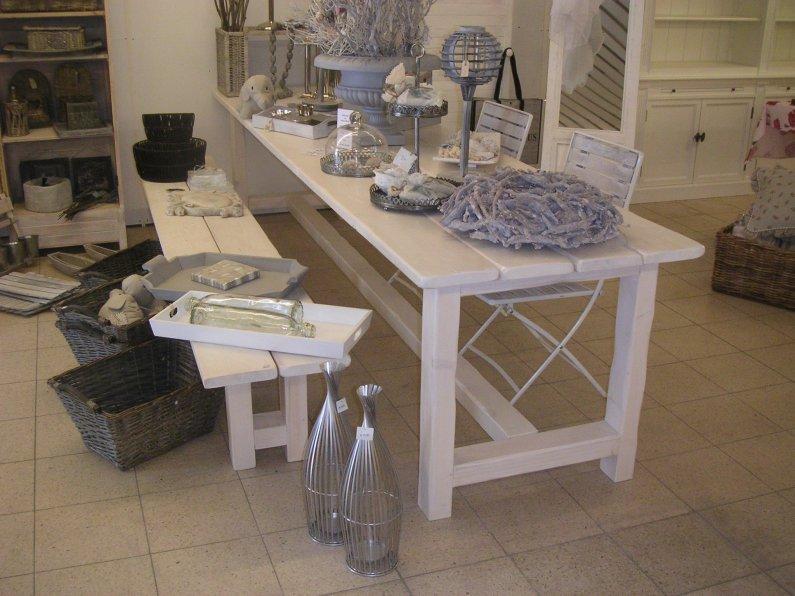 Kloostertafel standaard leverbaar in alle maten en kleuren en op maat gemaakt - Tafel eetkamer hout wit ...